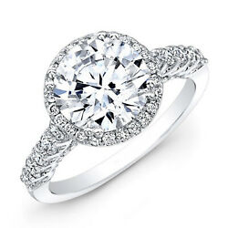 950 Platinum Round Cut 1.52 Ct Real Diamond Womenand039s Wedding Ring Size Selective