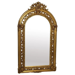 Huge 193cm Tall French Napoleon Iii Style Sphinx Gilt Pier Glass Wall Mirror