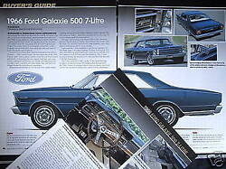 G 66 1966 Ford Galaxie 500, 7 Litre Buyers Guide Info