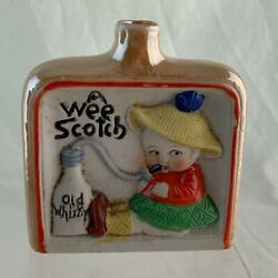 Vintage Flask Bottle Novelty Wee Scotch Old Whisky Boy/girl Humorous A