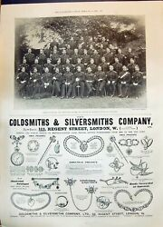 Old Print 1899 Sergeant-majors Wales Royal Hussars Gsmith Silvers 19th