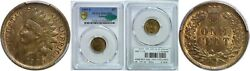 1909-s Indian Head Cent Pcgs Ms-64 Bn Cac