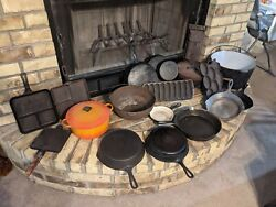 Cast Iron Cookware Collection 50 Pieces