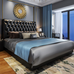 American Leather Master Bedroom Light Luxury Bed Nordic Bed Modern Minimalist Be