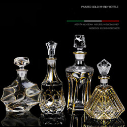 Czech Style Whiskey Decanter Whiskey Bottle Crystal Glass Wine Beer Container Gl