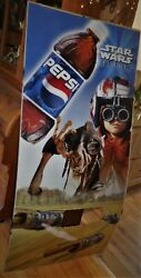 Pepsi Cola Machine Plastic Front Star Wars About 69 Inches Tall By 30 1/2 Wide