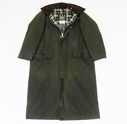 Barbour Vintage A160 Burghley Coat Waxed Cotton Jacket C 40 / 102 Cm England Wax