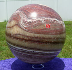 Xl Calcite Crystal Sphere Ball Custom Crafted 22 Pounds For Sale