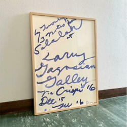 Cy Twombly Exhibition Poster Original Rare 2008 Art Collectible F/s From Japan