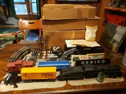 Marx Freight Train Set No. 50370 New York Central 1666 Elevated Track W/box