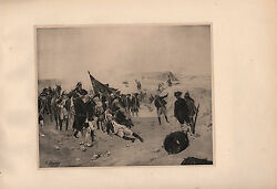 Antique Military Print Siege Of Quebec 1759 Weapons And Uniforms Gun
