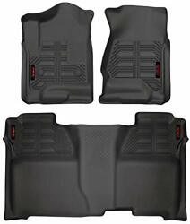 Gator 79607 Black Front And 2nd Seat Floor Liners Fits 14-18 Silverado/sierra...