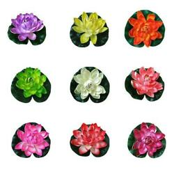 Artificial Flower Lilly Pad Floral Pond Tank Lillies Us Decor Wedding D2t5