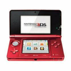 Nintendo 3ds Flame Red Handheld Video Game Console System