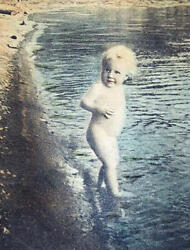 Taber Prang Art Print Child In The Lake 1915 R J Miller Arts And Crafts