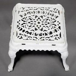 Vintage Antique Ornate Advertising Cast Iron Florence Oil Stoves Table Stand Bas