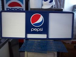 L@@k New 4ft Pepsi-cola Menu Board W/3 Sets Of Letters And Numbers.