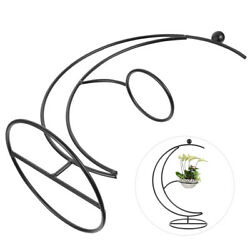 1pc Iron Wrought Holder Micro Landscape Stand Hanging Bottle Iron Rack