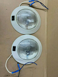 Lot Of 2 Marine Small Dome Light For Cabin By Valley Forge Company