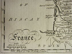 1797 Map France + 57 Page Text Article History Relations With Britain Assembly