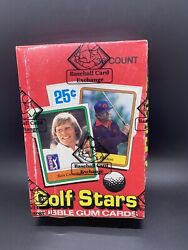 1981 Donruss Golf Stars Wax Box 36 Packs Bbce Wrapped Possible Jack Nicklaus Rc