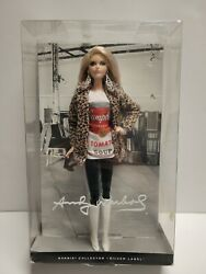 Mattel Andy Warhol Campbell Soup Barbie Collector Silver Label 2015 Nrfb
