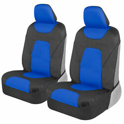 2 Piece Front Car Seat Covers 100 Waterproof Polyester Neoprene Blue