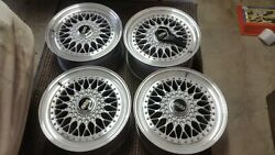 Toyota Lexus Rs265 Style 5 Bbs Rs Silver 17x8 Wheels Rims + Caps From Japan