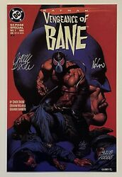 Batman Vengeance Of Bane 1 2nd Print Signed By Nolan And Dixon, Dynamic Forces Dc
