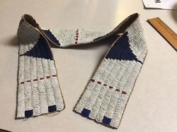 Native American Sioux Indian Bead Decorated Belt Nineteenth Century