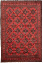 Hand-knotted Vintage Carpet 6and0396 X 9and0398 Traditional Tribal Wool Rug