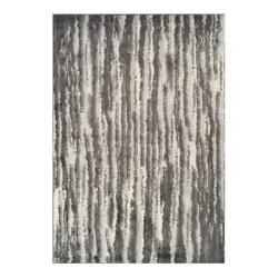 Addison Rugs Reston 9and0396 X 13and0392 Stripe Shag Fabric Area Rug In Gray