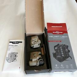 New In Box, Surefire Hl1-a-tn Helmet Light W/blue, White And Infrared Leds, Tan