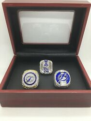 3 Pcs Tampa Bay Lightning Ring Stanley Cup Championship Ring With Display Box