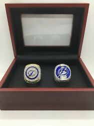 2 Pcs Tampa Bay Lightning Ring Stanley Cup Championship Ring With Display Box