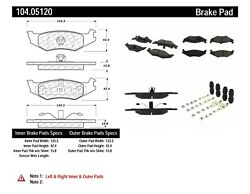 Disc Brake Pad Set Fits 1989-2001 Plymouth Neon Acclaim Breeze Centric Parts