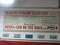 Vintage Lincoln Mercury Car Truck Dealer Sign From 1956 2 Sided