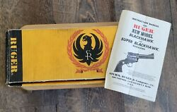 Vintage Ruger Red Hawk Empty Cardboard Box 7 1/2 Inch .44 Magnum W/owners Manual