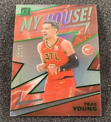 2019-20 Clearly Donruss Trae Young Green Holo My House Serial 1/25 - Hot