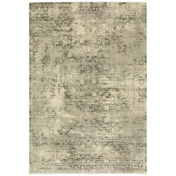 Beige Vintage Faded Crosshatch Traditional-european Area Rug Abstract 1806q