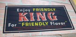 Enjoy Friendly King For Friendly Flavor Old Whisky Ad Mirror Thermometer Sign