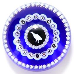 Baccarat Paperweight 1975 Original Genuine Blue Collectible Free Shipping Japan