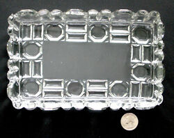 Eapg Relish Tray Nickel Plate Glass Co. 76 Richmond Bar And Block Antique 1890