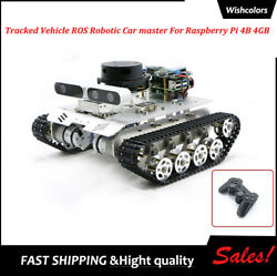 Tracked Vehicle Ros Car Robotic Car+wireless Controller For Raspberry Pi 4b 4gb