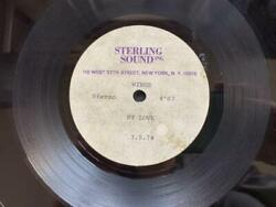 Wings My Love / The Mess I'm In Us 10'' Test Acetate Press / List No.82