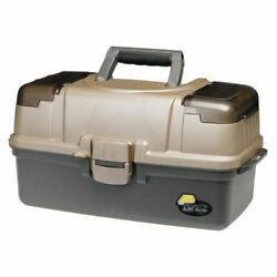 3-tray Tackle Box With Top Access Large Fishing Tackle Box Graphite/ Sandstone