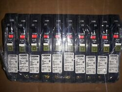 10 New Square D Breakers Arc Fault 1 Pole 20a 120v Plug On Neutral No White Wire