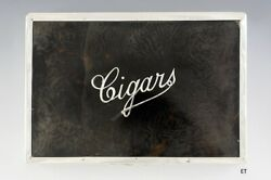 1910 Fine English Sterling Silver And Faux Tortoise Cigar Box