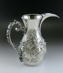 Handcrafted Italian 800 Silver Middle Eastern Style Coffee Pot Pitcher Ewer