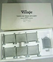 Christmas Village Chain Link Fence With Gate 5234-5 Dept 56